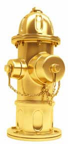 Gold-plated fire hydrant photo