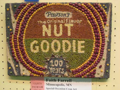 Circular red and green Nut Goodie package in beans