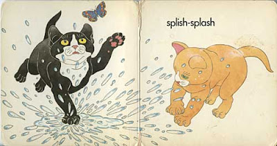 Splish-splash pages from Hush Kitten