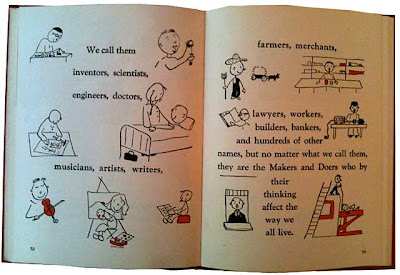 Two pages from Let's Do Better, showing Makers and Doers