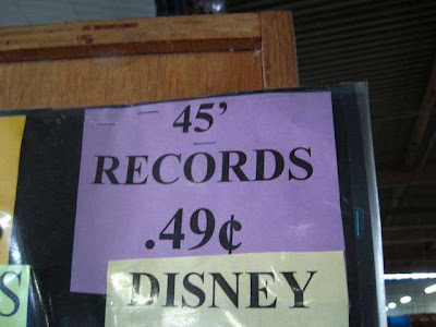 45' records 49 cents