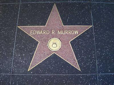 Walk of Stars star for Edward R Murrow