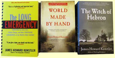 Three books by James Howard Kunstler