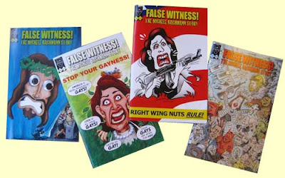 Four issues of False Witness comics