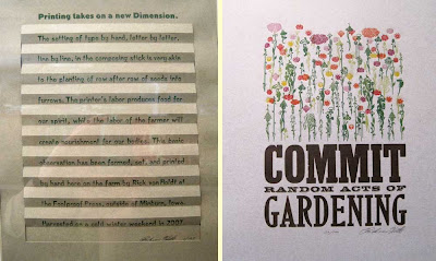 Two printed pieces about farming and gardening