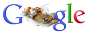 Google logo with pie crust