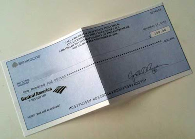 $100 check from SenecaOne