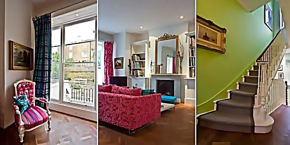 Large and Colouful House on Portland Road in London 13 - Renkli Ya�am Alanlar� Sevenler ��in Rengarenk D��enmi� Bir Ev