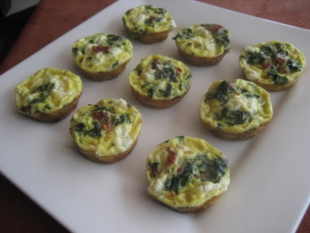 ... Mingling of Tastes: Frittata Bites with Spinach and Sun-dried Tomatoes