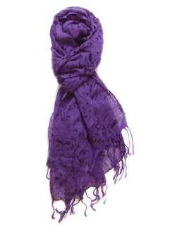 Amici purple scarf, $12