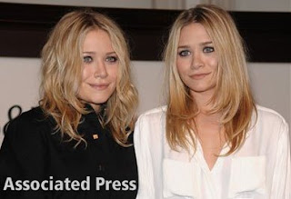 Mary Kate and Ashley Olsen's hair