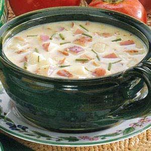 John's Wetls - creamy bacon and potato chowder