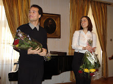 Com Irina Sârbu, após recital em Brașov (Romênia)