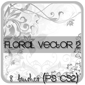 Floral Vector Brush Set.