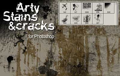 Stains and Cracks Brushes