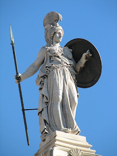 The statue of goddess Athena