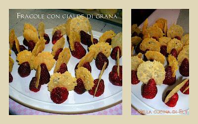 Nella cucina di Ely: Fragole con cialde di grana, premi e pubblicità