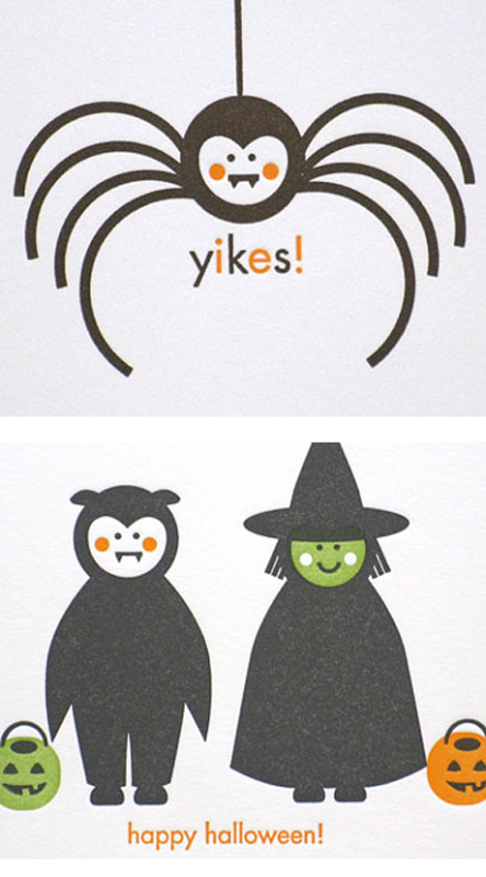 Egg Press Halloween Cards