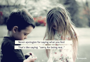 """Sorry, for being real..."""