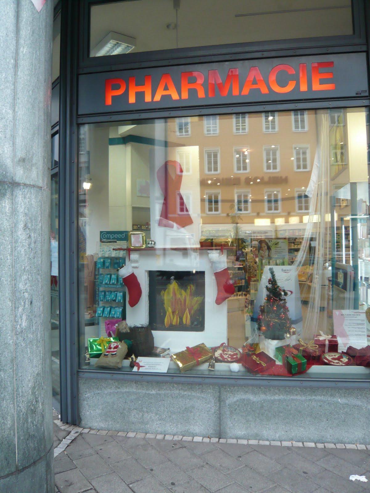 Montagsnonsens x mas tip iii dekoration Weihnachtsdeko schaufenster apotheke