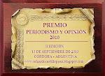 Premio Periodismo y Opinión 2010 al Mejor Blog de Odontología