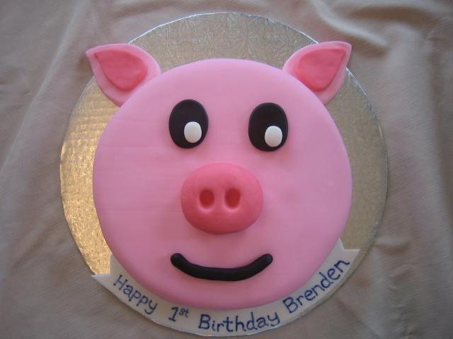 Pig Birthday - birthdaypartycake - Bloguez.com