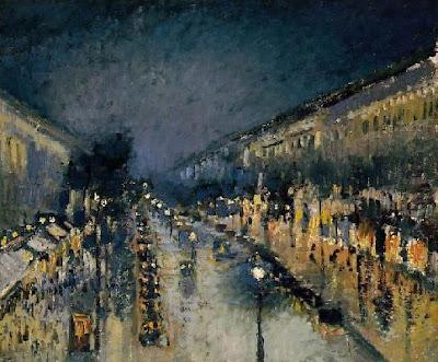 Le Boulevard Montmartre, Effet de Nuit, 1897, National Gallery, London