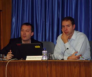 Fernando Morales y Sergio Martínez en el CEU