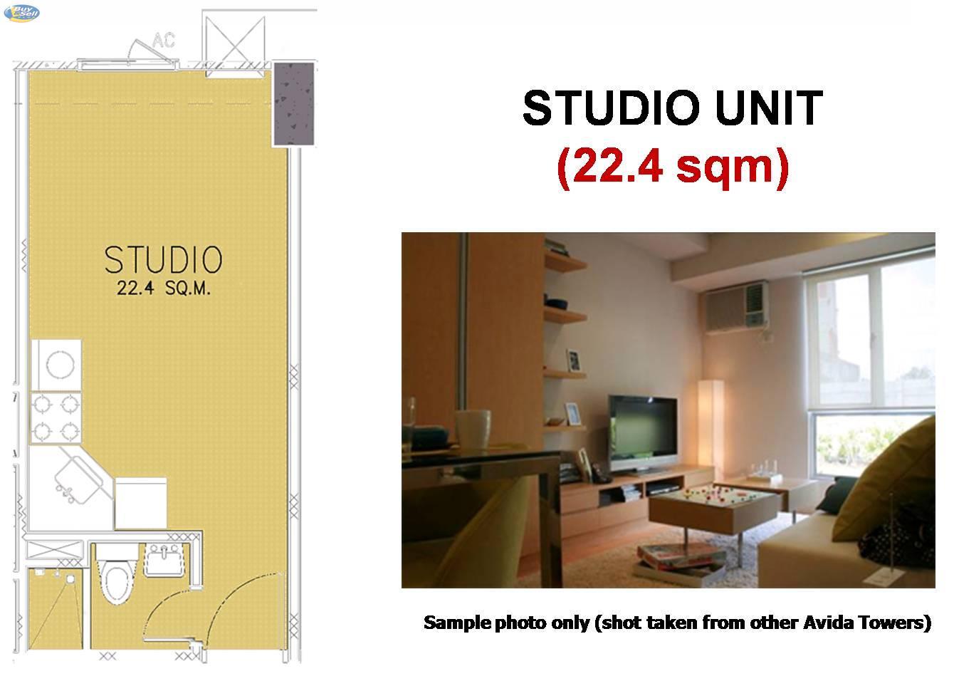 Avida towers alabang condo units for sale for Studio type condo floor plan