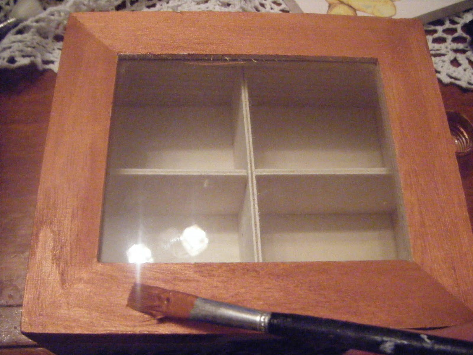 Manualidades de mari caja de madera para infusiones - Manualidades caja de madera ...