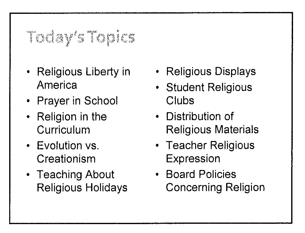 thesis statement for religion in public schools I think that religion should be taught in schools to educate children about the different religions around the world religious classes shouldn't be used to preach, that's what churches (and assemblies in religious schools) are for i think that if children, especially teenagers, learn about several different religions then they.