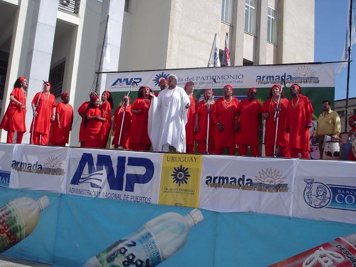 En 2007, Día del Patrimonio (La Cultura Afrouruguaya). Escenario en la Adm. Nac.de Puertos