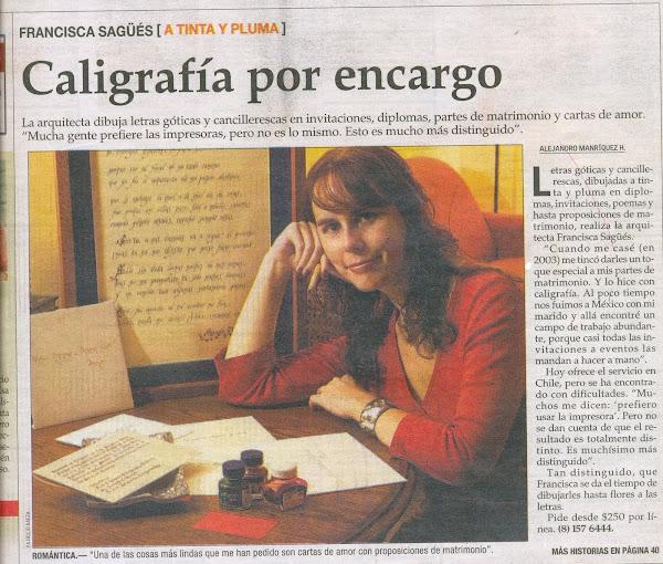 Reportaje en El Mercurio