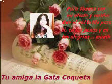 HERMOSO REGALO DE MI QUERIDA AMIGA GATA COQUETA
