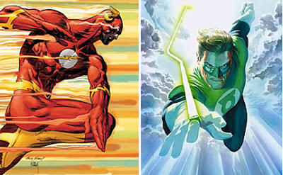 Flash y Linterna Verde