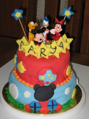 Kids Birthday Mickey Mouse Cake Decorations
