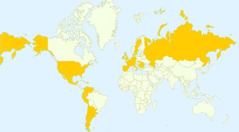 el mapa mundial. mapa mundi en blanco.