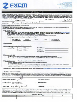 Forex.com withdrawal request form
