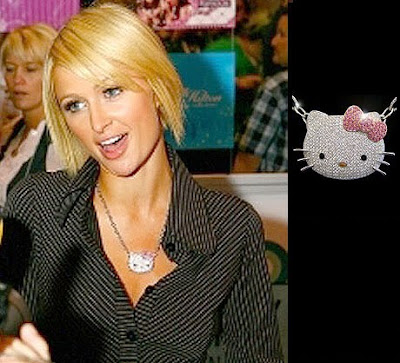 Celebrities say hello kitty ajurette magablog britney spears in one of her video clips wears the one and only edition of hello kitty 9 carat diamond pendant necklace which is sold for 53000 at mozeypictures Gallery