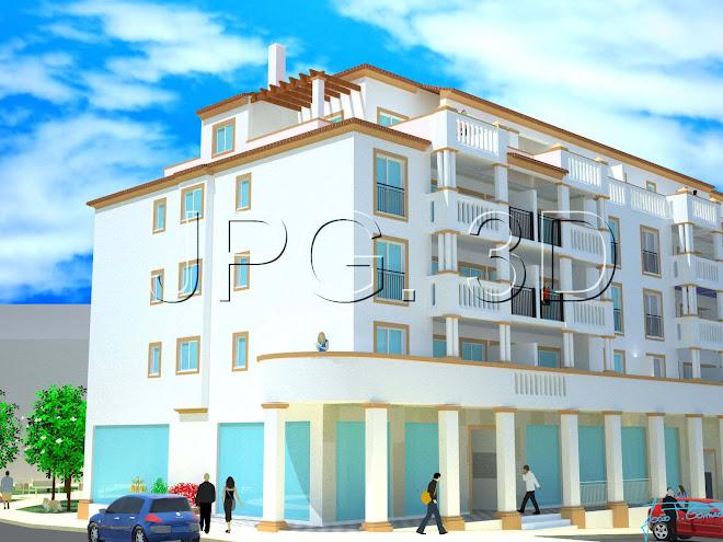 Edificio Habitacional, Rua Horta Sr. da Glória, lotes 6 e 7 - Lagos - 2007 - Req.: Alpartamentos