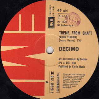 "Cover Album of DECIMO - Shaft (12"" EMI Italiana 1978)"