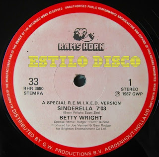 BETTY WRIGHT - Sinderella (A Special R.E.M.I.X.E.D. Version) (12