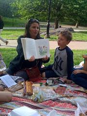 Michelle reads Alice in Wonderland