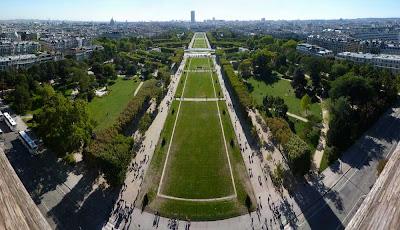 Parque Campos de Marte desde la Torre Eiffel