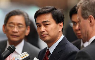 Thailand PM, Abhisit Vejjajiva