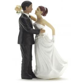 Funny Interracial Wedding Cake Toppers