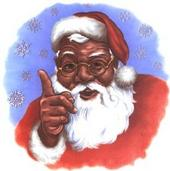 santa claus 1 santa claus lane north pole dear santa claus i know you    Black Santa Claus Clipart
