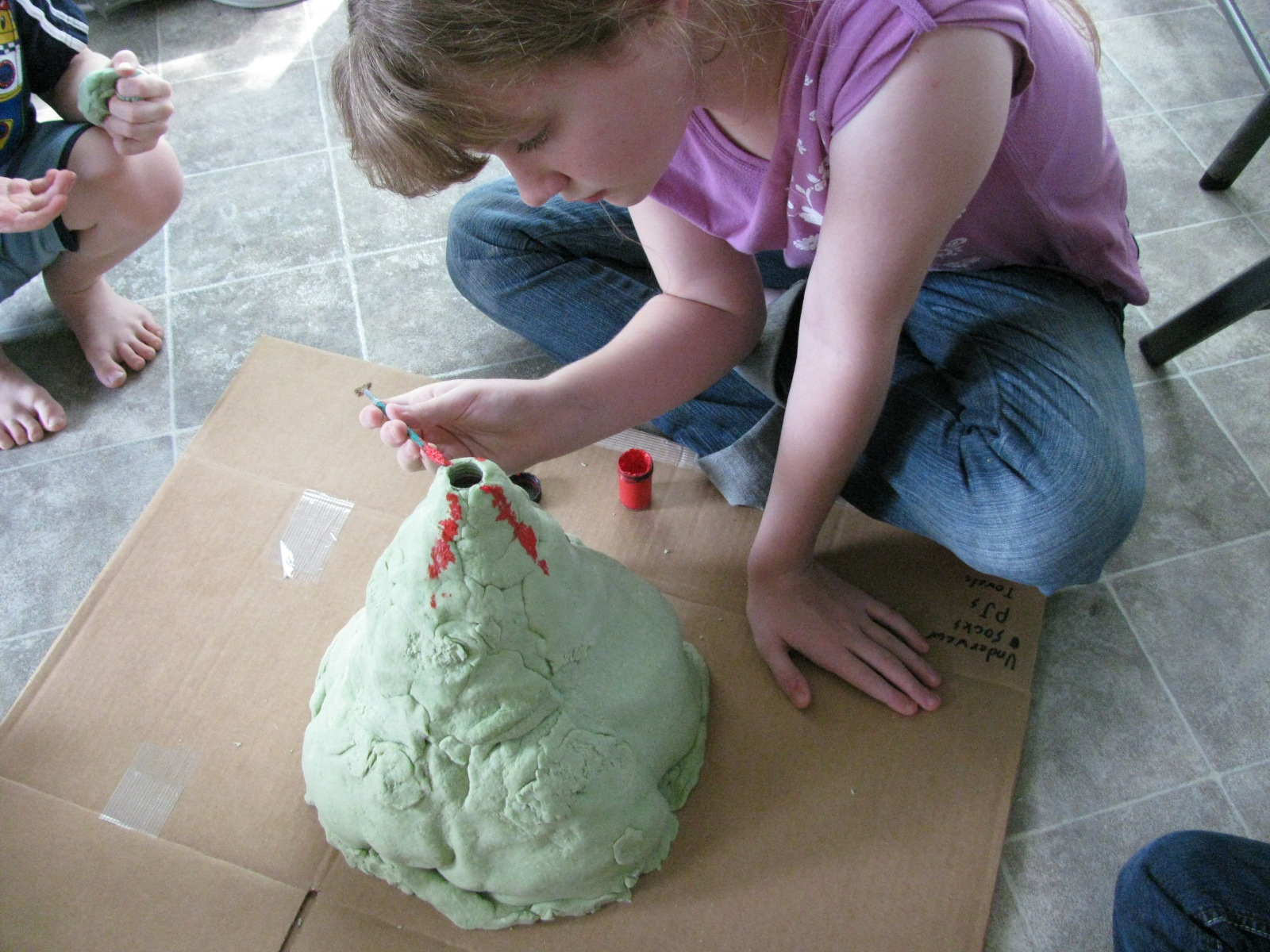how to make volcano model for school project