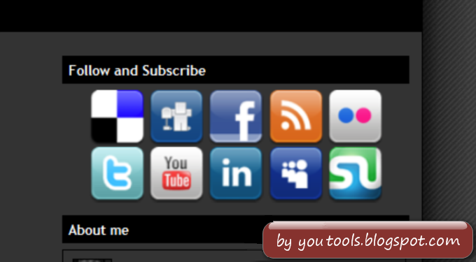 Follow and Subscribe Widget Social Icons Tool