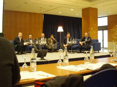 Från vänster: Jean-Paul Dietsch (OJD, Frankrike), Francesco Bottigliero (Kora, Italien), Giorgios Epitidios (Lambrakis Press, Grekland), Emilio Plana (elmundo.es, Spanien), George Ivie (MRC, USA), Dirk Wippern (INFOnline, Tyskland)